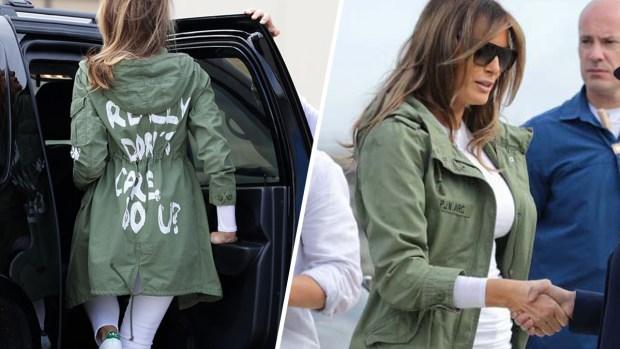 Melania revela por qué usó chaqueta con mensaje desafiante