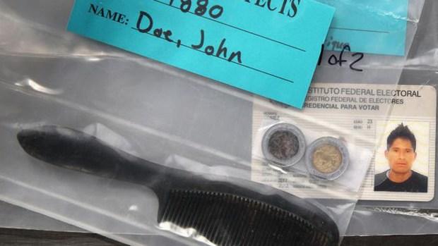 Desgarrador: objetos hallados en cuerpos de inmigrantes