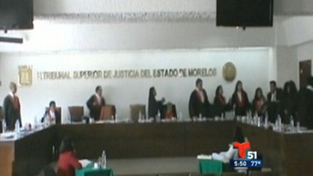 Video: Bronca en tribunal mexicano