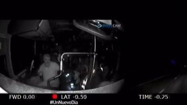 Video: Bus sin control tras ataque al conductor