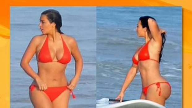 Video: Kim Kardashian, sexy sirena del mar