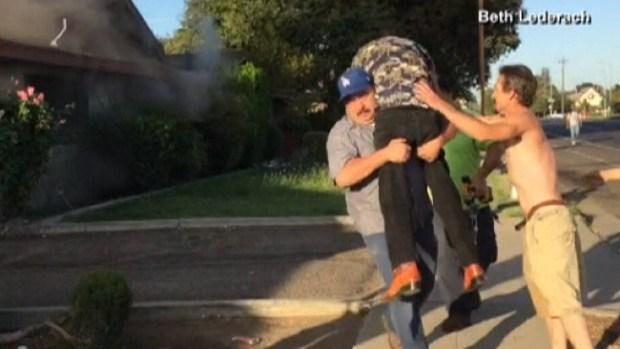 Video: Dramático rescate captado en cámara