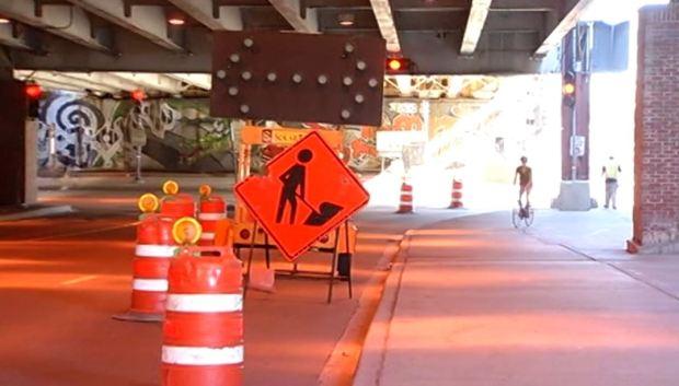 Construcción complica acceso al Navy Pier