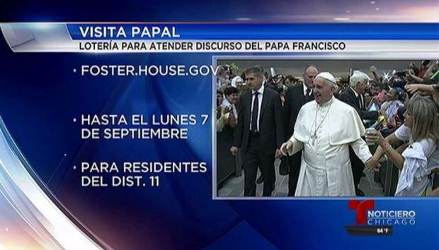 Lotería en IL para ver al Papa Franciso en Washington