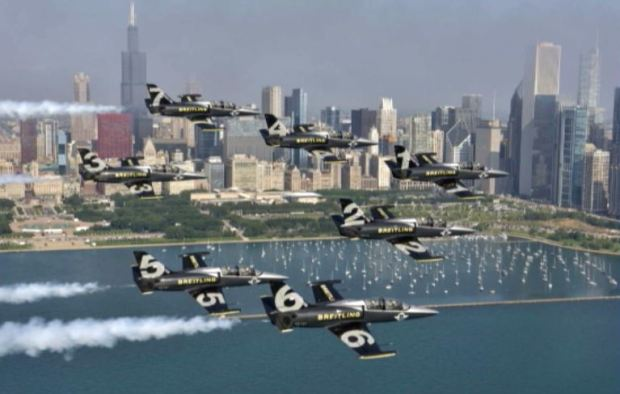 Pilotos Breitling en el Chicago Air and Water Show 2015