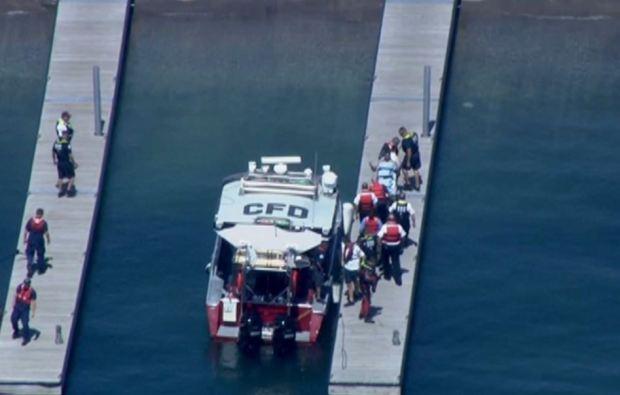 Rescan naufrago en Lago Michigan