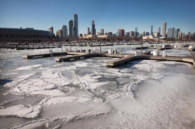 Fotos: El Lago Michigan congelado