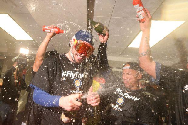 Así celebraron los Cubs la victoria contra los Nacionales