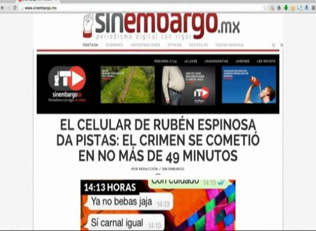 Implicado en homicidio de Rubén Espinosa dice que él no disparó