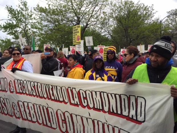 Así se vive el Día Internacional del Trabajo en Chicago