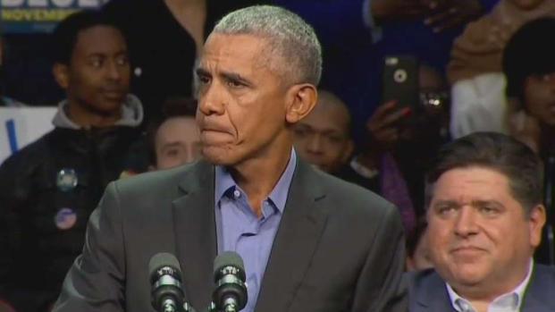 Barack Obama hace campaña en Chicago