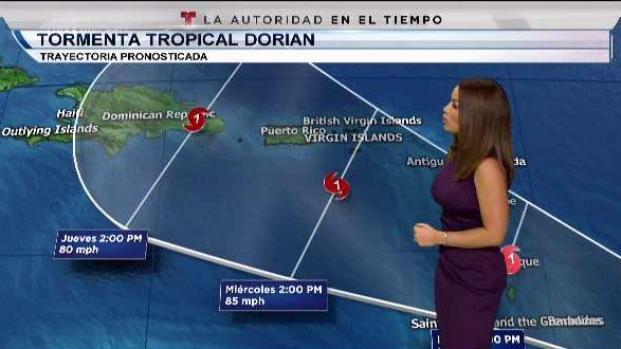 [TLMD - PR] Tormenta Dorian podría convertirse en huracán la próxima semana