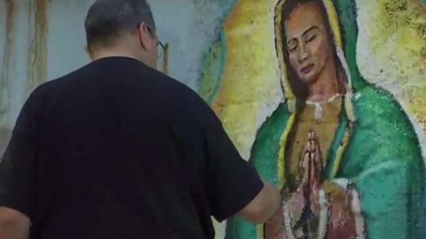 Vandalizan mural de la Virgen de Guadalupe en Pilsen