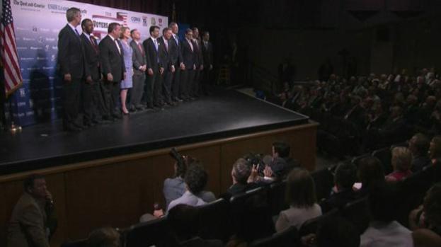 Diez precandidatos republicanos debaten esta noche