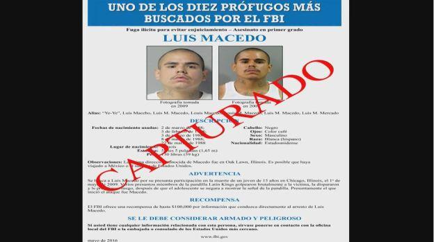 Capturan en México a prófugo del FBI en Chicago