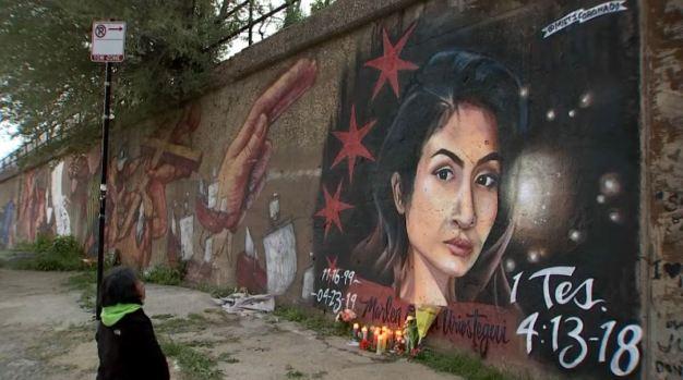 Tras atroz asesinato pintan mural en honor a Marlen Ochoa