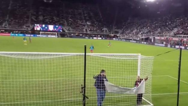 Protesta contra régimen cubano en juego de fútbol