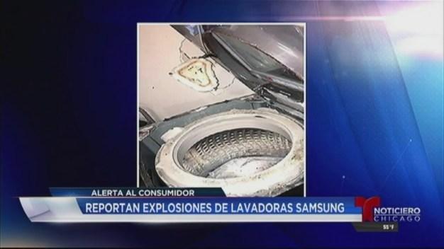 Reportan explosiones de lavadoras Samsung