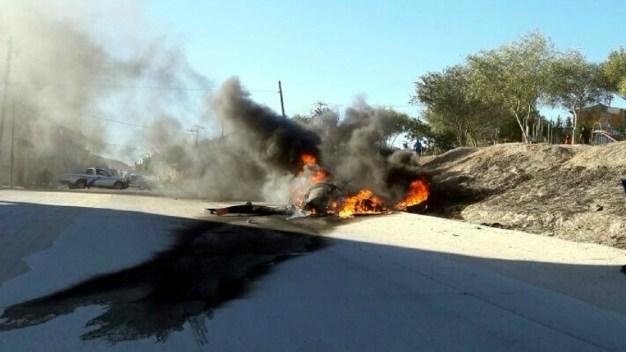 Se desploma helicóptero de la policía en Tijuana