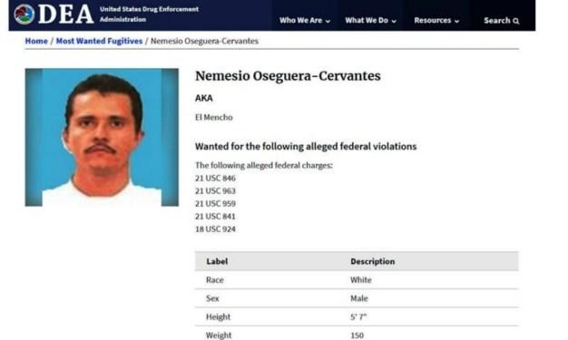 Gobierno busca en el oeste al líder del Cartel Jalisco
