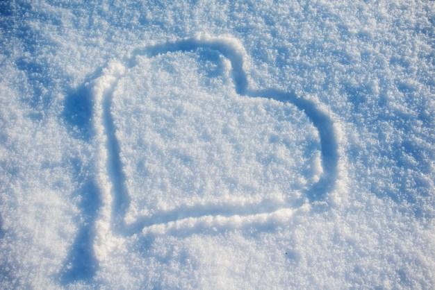 Día de San Valentín frío y con nieve en Chicago
