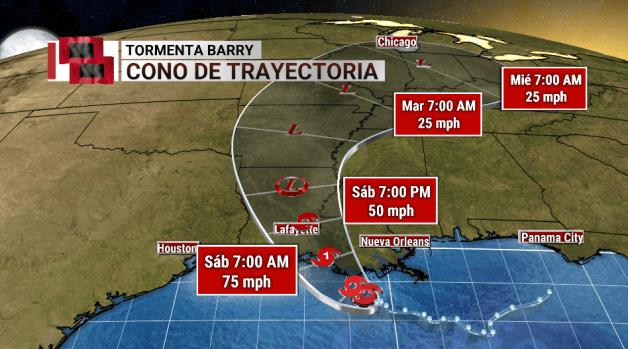 Luisiana se prepara para el impacto de Barry