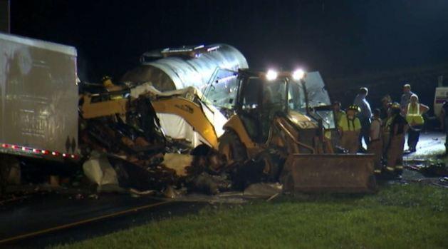 Mortal accidente con camión de carga en Indiana