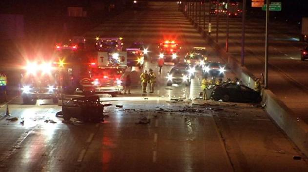 Mortal y espantoso accidente en autopista de Chicago