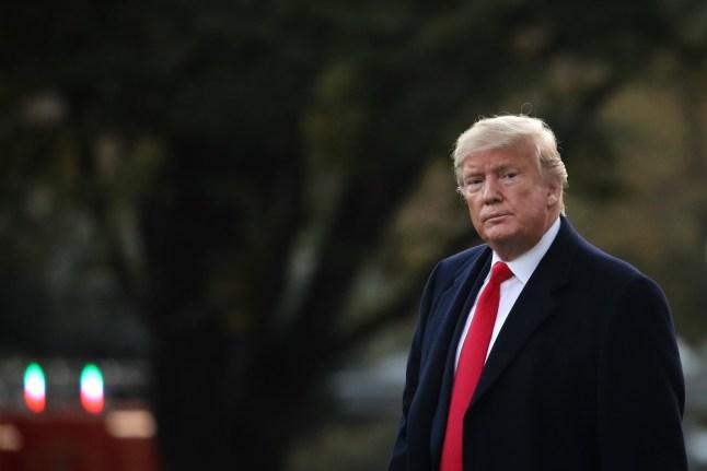 Sorpresiva visita del presidente Trump al médico