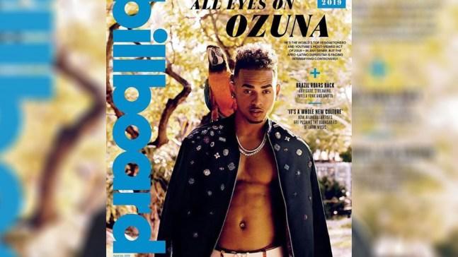 Ozuna muestra pecho y abdominales en la tapa de Billboard