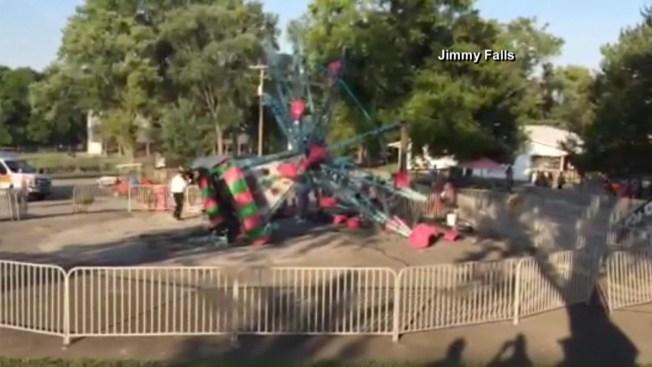 Accidente en sillas voladoras deja siete heridos
