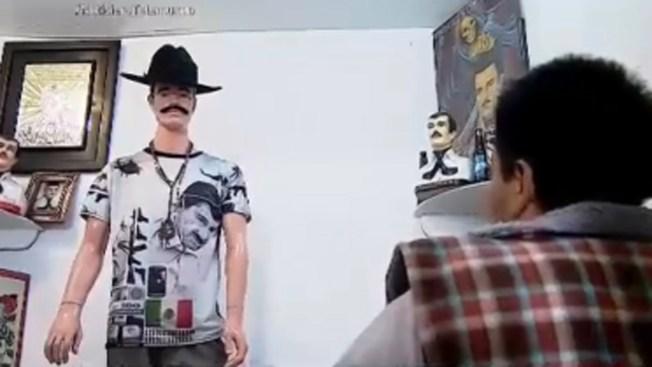 "Visten a Jesús Malverde como ""El Chapo"""