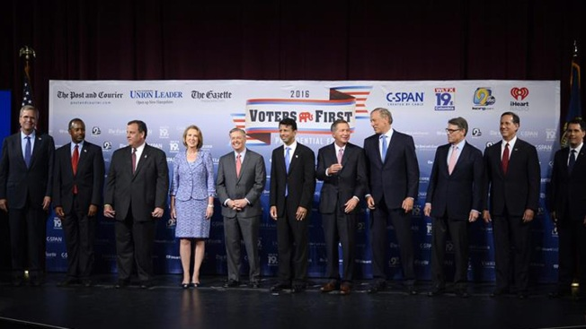 Los diez republicanos que debatirán este jueves