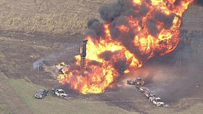 Explosión por tubería de gas en Texas