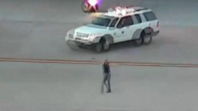 Lo arrestan ebrio en pista de aterrizaje