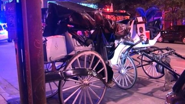 SUV vs carroza: cuatro niños heridos