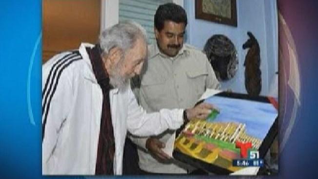 Fidel y Maduro intercambian regalos