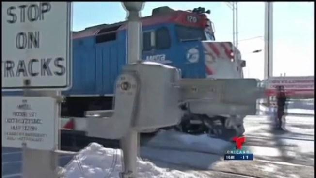 Muere hispana impactada por tren