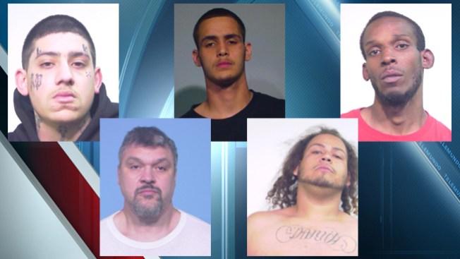 Presuntos pandilleros arrestados