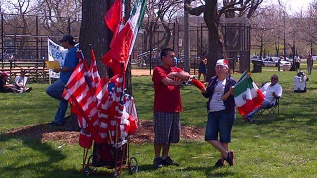 Gran marcha pro inmigrantes en Chicago