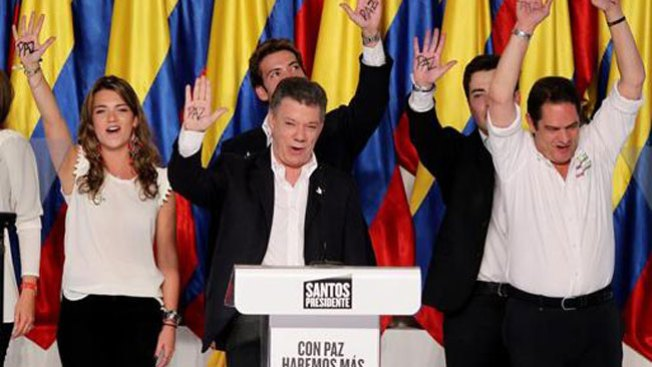 Santos gana la reelección en Colombia