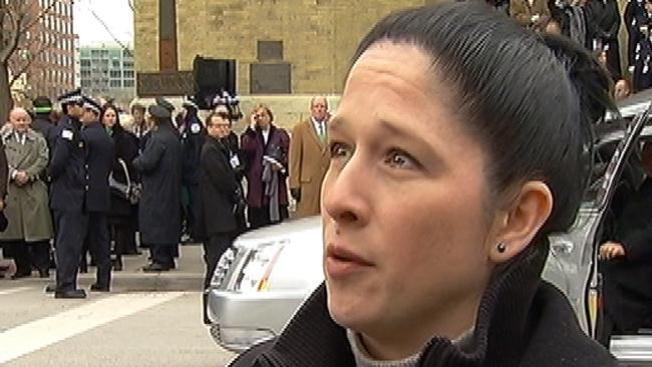 Susana Mendoza, desde el funeral de Maggie Daley