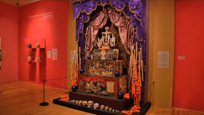 Exhibición del día de los muertos en Chicago