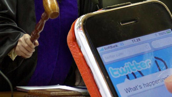 ¡No Twitter en la corte!