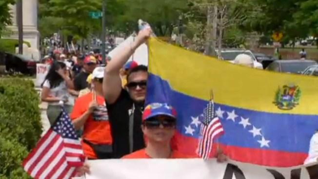 Caravana de Venezolanos llega a DC