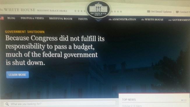 Páginas web, víctimas del 'shutdown'