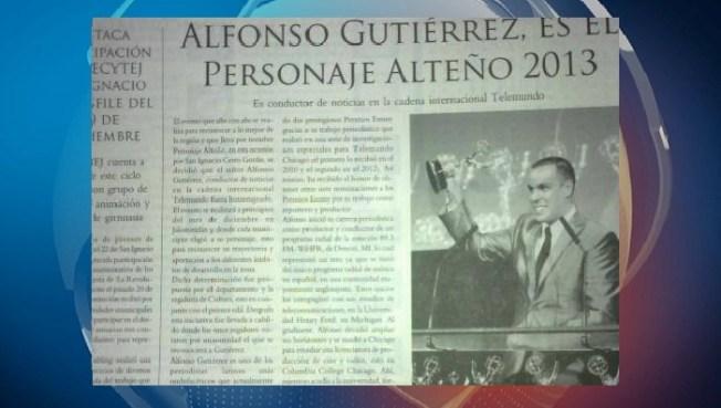 """Alfonso Gutiérrez: """"Personaje Alteño 2013"""""""