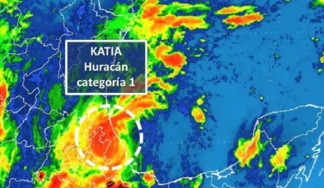 Huracán 'Katia' ya es categoría 2