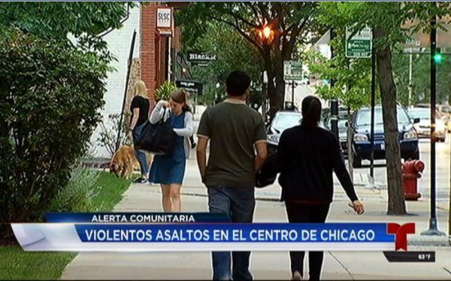Atacan para robar en el centro de Chicago