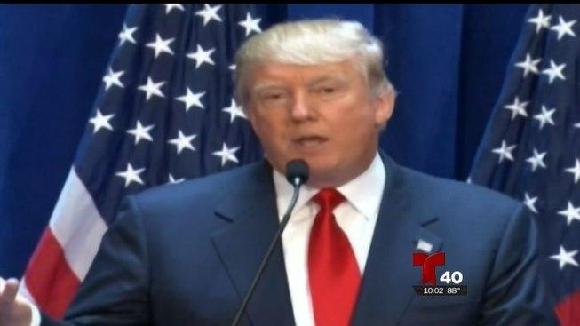 Hispanos en Laredo reaccionan a visita de Trump